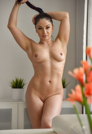 Nude Busty With Pigtails, Big Titties, Naked Boobs